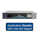 EMC VNXe 3150 Application Solution 3.6TB Bundle - 6x 600GB 15K SAS, Dual Controller, Base Software, 3 Year 24x7 Support
