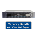 EMC VNXe 3150 Capacity Solution 12TB Bundle - 6x 2TB NL SAS, Dual Controller, Base Software, 3 Year 24x7 Support