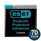 ESET Endpoint Protection Advanced for 70 Users for 1 Year