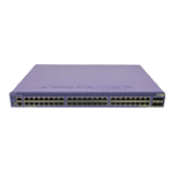 Summit X670V-48t-FB-DC 10GbE Switch - (48) 10GBASE-T, 4 10GBASE-X, (1) VIM4 slot, ExtremeXOS Advanced Edge Lic, Front-to-Back
