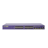 Summit X250e-24p (24) 10/100BASE-TX with PoE, 2 gigabit combo ports, 2 SummitStack ports, ExtremeXOS Edge Lic., 1 AC PSU