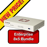 Fortinet FortiGate-30E / FG-30E Firewall Appliance Bundle with 1 Year 8x5 Enterprise FortiCare + FortiGuard