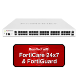 Fortinet FortiGate-140E-POE / FG-140E-POE Next Generation Firewall (NGFW) Appliance Bundle - 1 Year 24x7 Forticare & FortiGuard