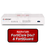 Fortinet FortiGate-30E / FG-30E Next Generation (NGFW) Firewall Appliance Bundle with 1 Year 24x7 Forticare and FortiGuard