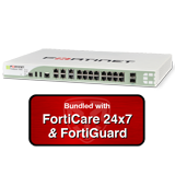 Fortinet FortiGate-100D / FG-100D Security Appliance NGFW Firewall with 1 Year 24x7 Forticare and FortiGuard Bundle
