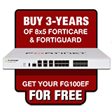 Fortinet FortiGate-100EF / FG-100EF Next Gen Firewall Appliance FREE with Purchase of 3 Year 8x5 Forticare and FortiGuard