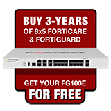 Fortinet FortiGate-100E / FG-100E Next Generation Firewall Appliance FREE with Purchase of 3 Year 8x5 Forticare and FortiGuard