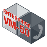 Fortinet FortiVoiceEnterprise-VM-50 Software - Supports 50 Phone Extensions and 8 VoIP Trunks