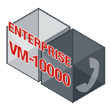 Fortinet FortiVoiceEnterprise-VM-10000 Software - Supports 10000 Phone Extensions and 1000 VoIP Trunks