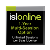ISL Online Multi Session Option - Unlimited Sessions Per Computer Per SaaS License for 1 Year