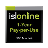 ISL Online Pay Per Use - 500 Minutes for 1 Year
