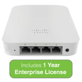 Cisco Meraki MR30H Quad-Radio, Cloud-Managed 2x2:2 802.11ac Wave 2 Wall Switch AP, 1.3 Gbps, 802.3af PoE w/1Y Enterprise License