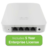 Cisco Meraki MR30H Wall Switch Access Point with 5 Year Enterprise License