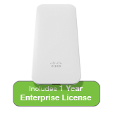 Cisco Meraki MR70 Ruggedized Access Point with 1 Year Enterprise License