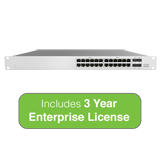 Cisco Meraki MS120-24P L2 Cloud-Managed Switch - 370W PoE, 24x 1GbE Ports, 56 Gbps Switching - Incl. 3 Year Enterprise License