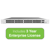 Cisco Meraki MS120-48LP L2 Cloud-Managed Switch - 370W PoE, 48x 1GbE Ports, 104 Gbps Switching - Incl. 3 Year Enterprise License