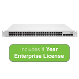 Cisco Meraki Cloud Managed MS210-48LP 370W PoE Switch with 1 Year Enterprise License