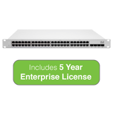 Cisco Meraki Cloud Managed MS225 Series 48 Port Gigabit Switch - 48x 1GbE Ports - Includes 5 Years Enterprise License