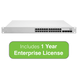 Cisco Meraki Cloud Managed MS250 Series 24 Port Gigabit Switch - 24x 1GbE Ports - Includes 1 Year Enterprise License