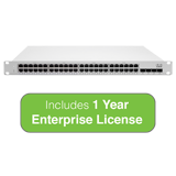 Cisco Meraki Cloud Managed MS250 Series 48 Port Gigabit Switch - 48 × 1GbE Ports - Includes 1 Year Enterprise License