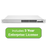 Cisco Meraki Cloud Managed MS350 Series 24 Port Gigabit Switch with 3 Years Enterprise License