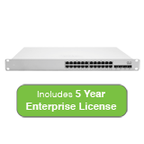 Cisco Meraki Cloud Managed MS350 Series 24 Port Gigabit Switch with 5 Years Enterprise License