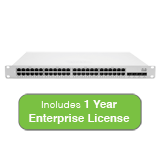 Cisco Meraki Cloud Managed MS350 Series 48 Port Gigabit Switch with 1 Year Enterprise License & Support