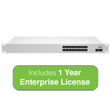 Cisco Meraki Cloud Managed MS410 Series 16-Port 1 Gigabit Aggregation Switch with 1 Year Enterprise License