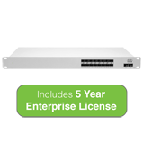 Cisco Meraki Cloud Managed MS410 Series 16-Port 1 Gigabit Aggregation Switch with 5 Years Enterprise License