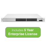 Cisco Meraki MS425 Series Cloud Managed 32-Port 10GbE Switch Bundle - Includes 5 Years Enterprise License