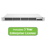 Meraki Cloud Managed MS42 48 Port Gigabit Switch Bundle - 48x 1GbE Ports, 4x 10G (SFP+) - Includes 3 Years Enterprise License