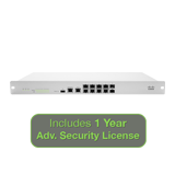 Meraki MX100 Security Appliance Advanced Security Bundle, 500Mbps FW, 8xGbE, 2xGbE SFP - Includes 1 Year Adv. Security License