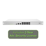 Meraki MX100 Security Appliance with 3 Years Advanced Security License