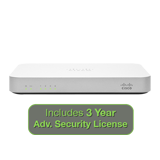 Cisco Meraki MX60 Security Appliance Advanced Bundle, 100Mbps FW, 5xGbE Ports - Includes 3 Years Advanced Security License