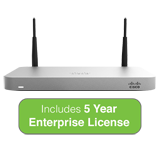 Cisco Meraki MX64W Wireless Firewall Security Appliance with 5 Years Enterprise License