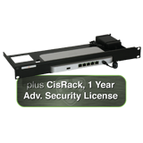 Cisco Meraki MX65 Small Branch Security Appliance - Includes 1 Year Advanced Security License and CisRack