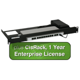 Cisco Meraki MX65 Small Branch Security Appliance - Includes 1 Year Enterprise License and CisRack