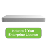 Cisco Meraki MX65 Small Branch Security Appliance, 250Mbps FW, 12xGbE Ports - Includes 3 Years Enterprise License
