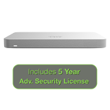 Cisco Meraki MX65 Small Branch Security Appliance, 250Mbps FW, 12xGbE Ports - Includes 5 Years Advanced Security License