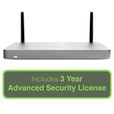 Cisco Meraki MX67W Small Branch Security Appliance with 3 Year Advanced Security License