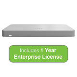Cisco Meraki MX67 Small Branch Security Appliance with 1 Year Enterprise License