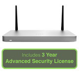 Cisco Meraki MX68CW Small Branch Security Appliance - Includes 3 Year Advanced Security License