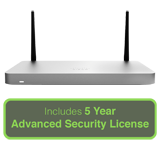 Cisco Meraki MX68CW Small Branch Security Appliance - Includes 5 Year Advanced Security License