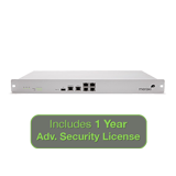 Meraki MX80 Security Appliance Advanced Security Bundle, 250Mbps FW, 5xGbE Ports with 1 Year Advanced Security License