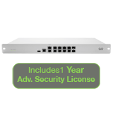 Cisco Meraki MX84 Advanced Security Bundle, 500Mbps FW, 10xGbE & 2xGbE SFP  Ports with 1 Year Advanced Security License