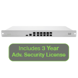 Cisco Meraki MX84 Advanced Security Bundle, 500Mbps FW, 10xGbE & 2xGbE SFP Ports with 3 Year Advanced Security License