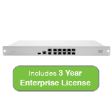 Cisco Meraki MX84 Security Appliance Bundle, 500Mbps FW, 10xGbE & 2xGbE SFP  Ports with 3 Years Enterprise License