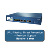 Palo Alto Networks PA-200 Next-Gen Firewall Bundle w/1 Year Premium Support, URL Filtering & Threat Prevention Subscription