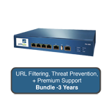 Palo Alto Networks PA-200 Next-Gen Firewall Bundle w/3 Years Premium Support, URL Filtering & Threat Prevention Subscription