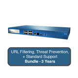 Palo Alto Networks PA-500 Next-Gen Firewall Bundle w/3 Years Standard Support, URL Filtering & Threat Prevention Subscription